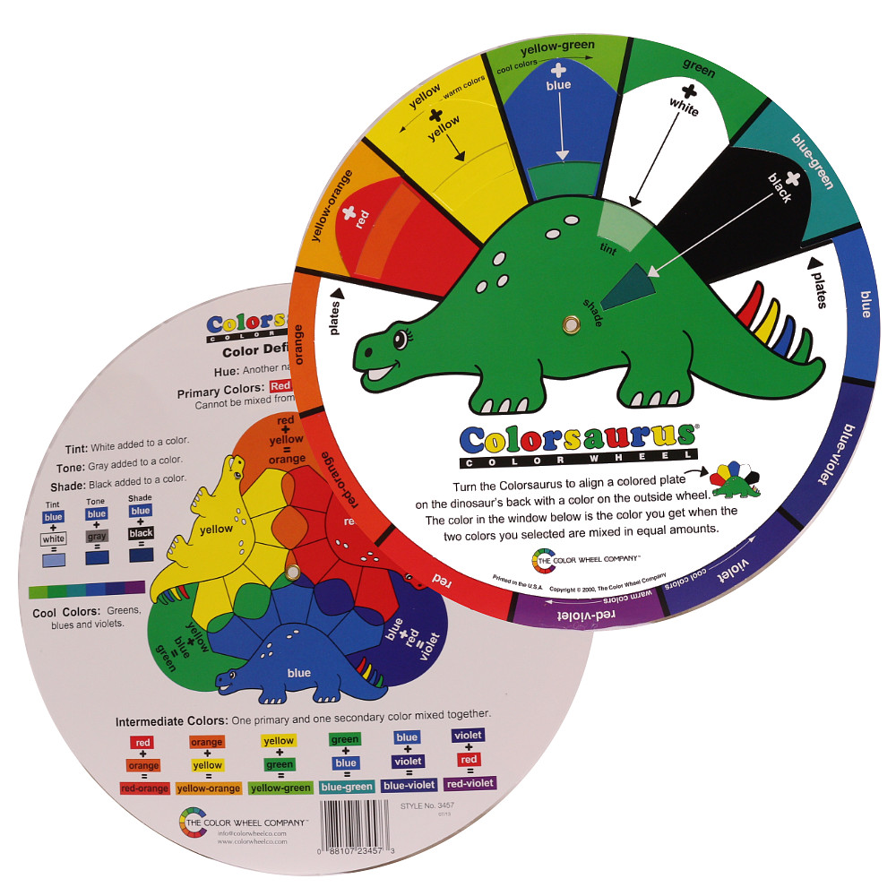 Co color wheel art - Color Wheel The Colorsaurus Wheel 3457 23 5cm